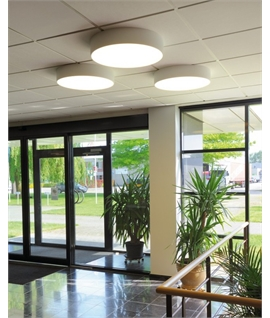 Aluminium Flush Ceiling Light D:600mm