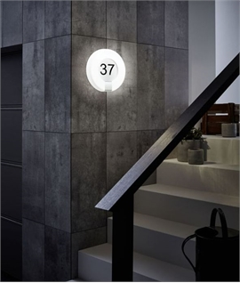 LED Illuminated House Number Plaque - Complete with Graphics
