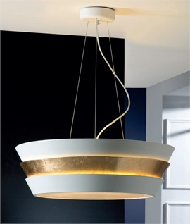 Round Lacquered Metal Pendant