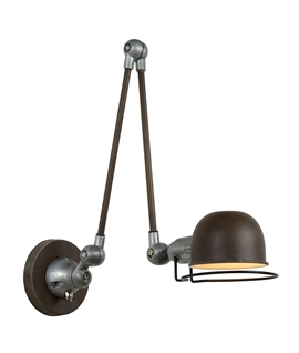 Industrial Styling Long Reach Wall Light