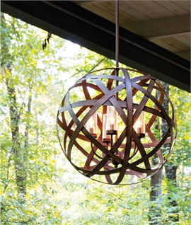 Ribbon Steel Ball Pendant in Two sizes - Use Inside or Out