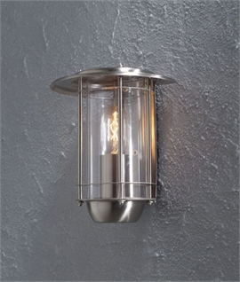 Satin Nickel Flush Mounted Exterior Light