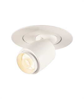 Compact Aluminium LED Scoop Light - White or Black