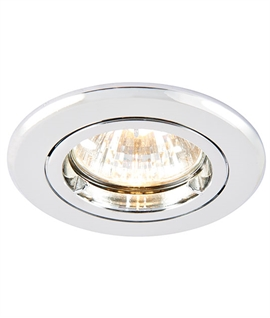 Fire Rated Fixed Chrome Downlight - Easy Installation