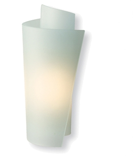 Scrolled Opal Glass Wall Light
