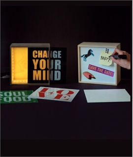 LED Square Box with Four Interchangeable Perspex Panels