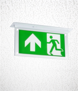 Semi-Recessed Emergency Exit Sign