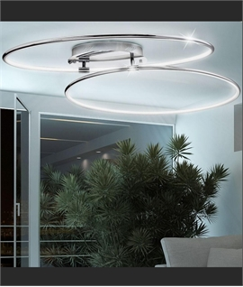 Double Ring LED Chrome Light - Dia 900mm