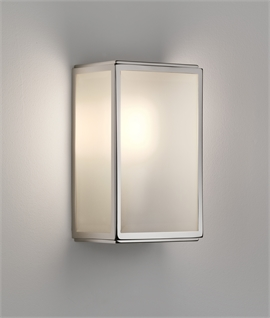 Contemporary Flush Wall Lantern With PIR Sensor