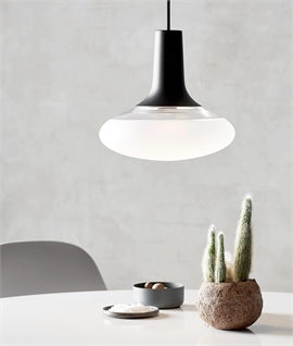 Frosted Glass Pendant for Mains Lamps - Two Finishes Available