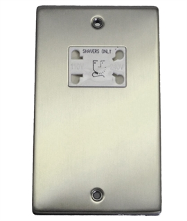 Dual Voltage Shaver Socket - White Socket