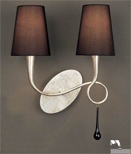 Contemporary Twin Wall Bracket Light in Silver or Gold Gilt
