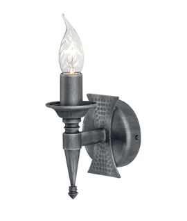Wrought Iron Saxon Style Wall Light - Single or Twin