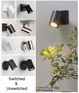 Modern Dimmable Spotlight for Mains GU10 Lamps - 4 Finishes