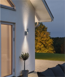 Dual Light LED Exterior Wall Light