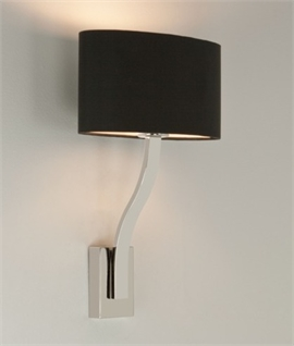 Wall Light Lamp Shades Fabric : Modern Wall Light With Fabric Shades Lighting Styles