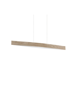Linear LED Suspended Pendant - Wood Veneer