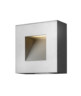 Sloped LED Exterior Wall Light - Low Glare