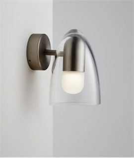 Small Clear Shade Wall Light IP44 Rated