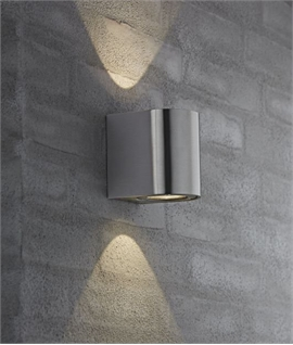 Very Funky Filtered LED Wall Light   5 Finishes  Architectural Up   Down Outdoor Lighting   Lighting Styles. Contemporary Exterior Wall Lights Uk. Home Design Ideas