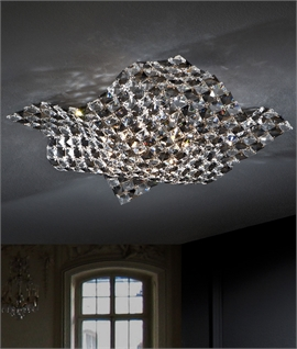 Clear & Smoked Crystal Semi-Flush Light