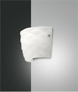 Quilted Opal Glass Wall Light