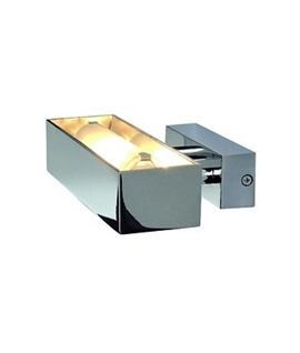 Punchy Discreet Wall Up Light - Chrome