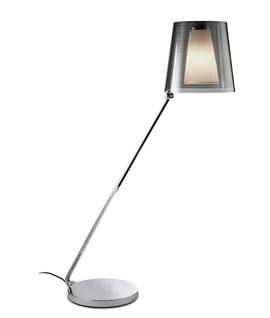 Swing Chrome and Acrylic Shade Floor Lamp