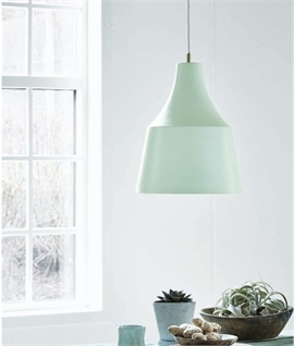 Pastel Shade Metal Pendant - 3 Colours and 2 Sizes