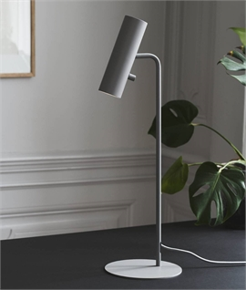 Slim Table Lamp - Adjustable Head & Switched