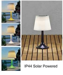 LED Outdoor Table Lamp IP44 - Solar Powered