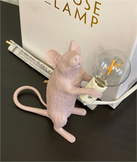 Mouse Lamp Blush Pink with LED Lamp