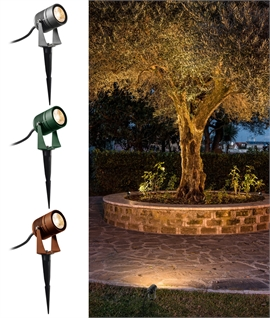 Adjustable Exterior Spike Light - 3 Colours