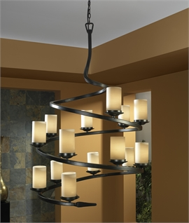 Ironwork LED Spiral Wall Light with Shade