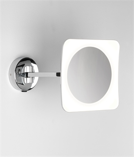 LED Illuminated Adjustable Arm Mirror