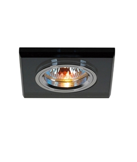 Square Shallow Recessed Crystal Glass Downlight