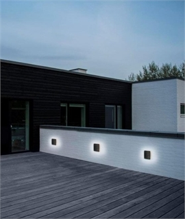 Black Exterior LED Round or Square Wall Light