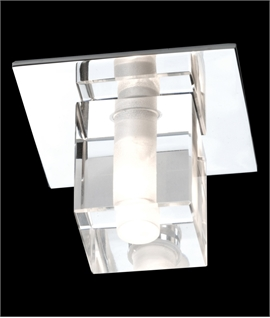 Decorative Crystal & Chrome IP67 Downlight