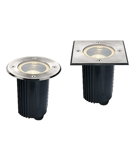 Buried Exterior Uplighter GU10 Lamps - 316 Stainless Steel