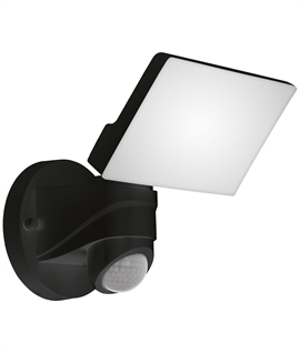 Wide Square LED Wall Light with Sensor Activation