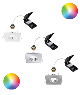 Shallow Square Colour Changing and CCT Fire Rated Downlight - IP65