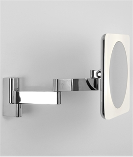 Square LED Illuminated Vanity Mirror 230mm ...