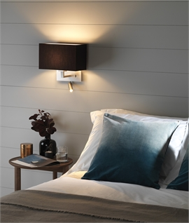 Bedside wall fixtures with built in reading light lighting styles bedside reading light with pivoting led arm aloadofball Gallery