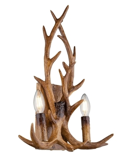 Hunting Lodge Antler Double Wall Light