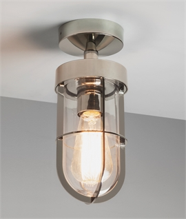 Cabin Clear Glass Ceiling Light - IP44 Rated