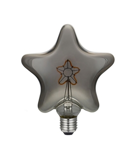 Decorative LED E27 Star Lamp - Smoked Grey