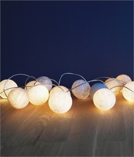 Grey, Ivory & Oatmeal String & Ball Lights