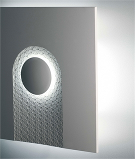 Stunning Large Scale Plaster Wall Light - Wallpaper