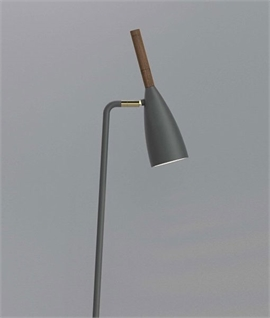 Floor Reading Light with Oiled Walnut Detail
