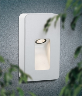 White Exterior LED Guide Wall Light